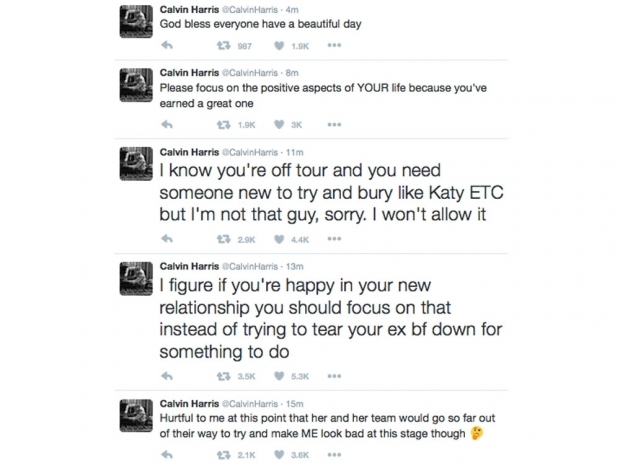 taylor swift and calvin harris twitter rant