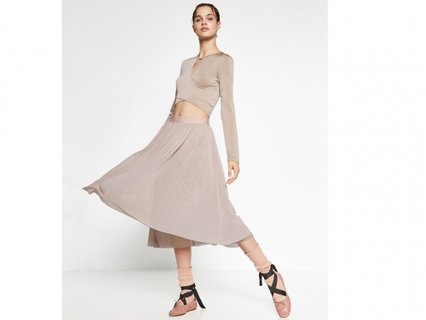 Tulle skirt and wrap top from Zara
