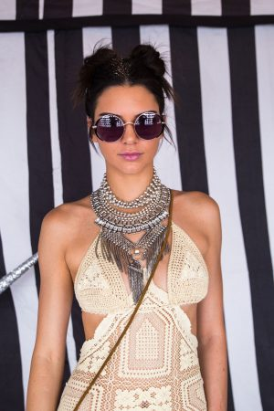 Kendall Jenner's Double Bun Is Perfect For That Effortless Festival Cool Look, 2016