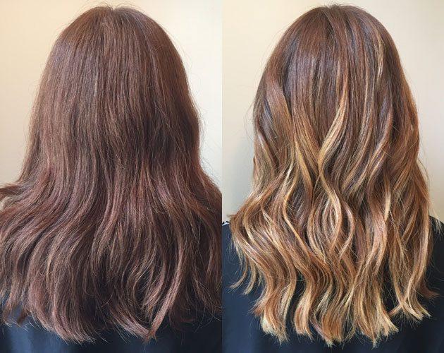 Layage hair