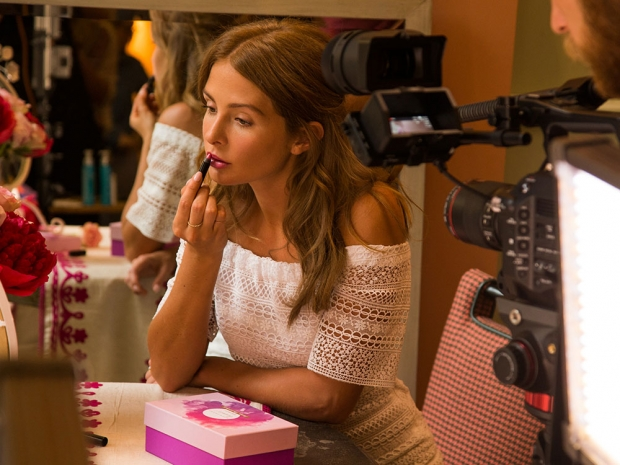 Millie Mackintosh applies her LOC Lip colour only in her Birchbox