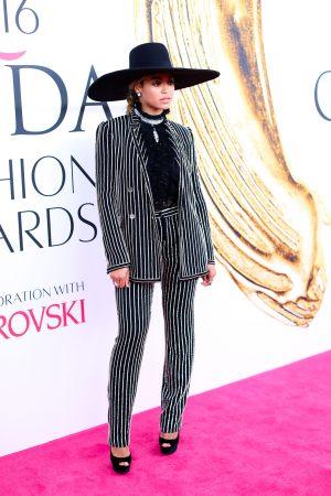 Beyoncé Rocks An Embellished Monochrome Suit At The CFDA Fashion Awards, 2016
