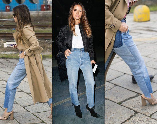 Fashionista Miroslava Duma is a huge fan of Vetements' step-hem jeans