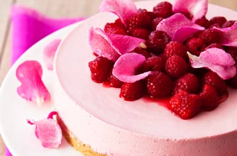 Raspberry And Rose Cheesecake Dessert Recipes Goodtoknow