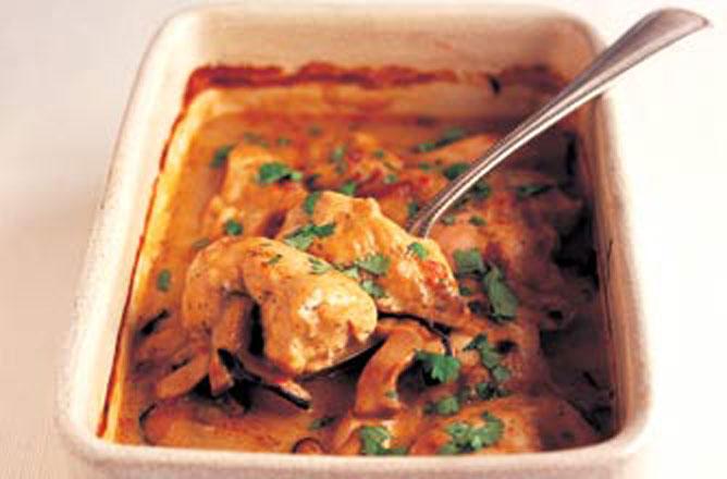 Mary Berrys Thai Shiitake Chicken Bake