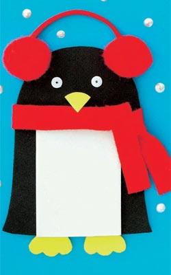 Christmas penguin cards