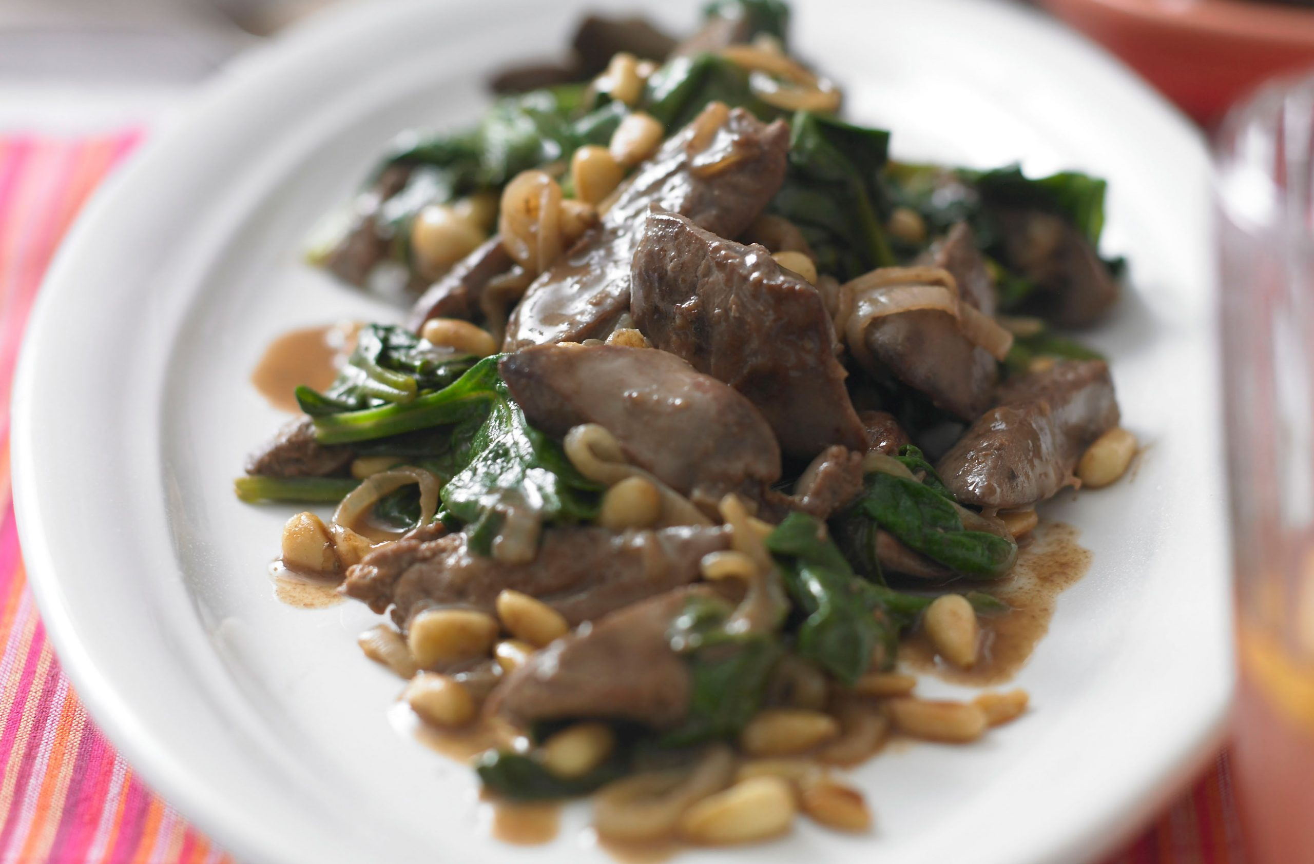 Pan Fried Chicken Livers With Sherry Spinach Spanish Recipes Goodtoknow