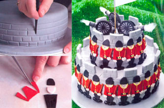 Admirable Soldier And Castle Birthday Cake Recipes Goodtoknow Funny Birthday Cards Online Elaedamsfinfo