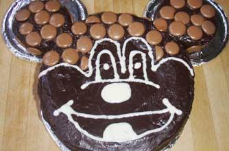 Phenomenal Mickey Mouse Birthday Cake Snack Recipes Goodtoknow Personalised Birthday Cards Xaembasilily Jamesorg