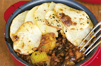 Give Simon Rimmer's hearty and cheap vegan Lancashire hot pot a try
