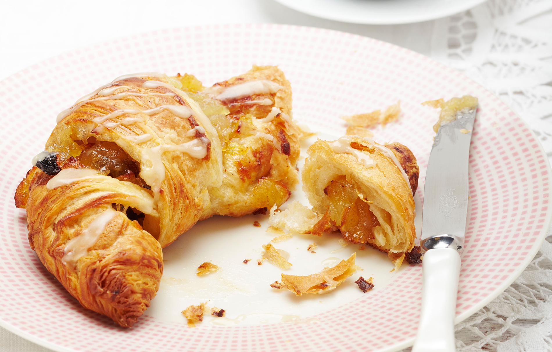 Quick Apple Croissants Baking Recipes Goodtoknow
