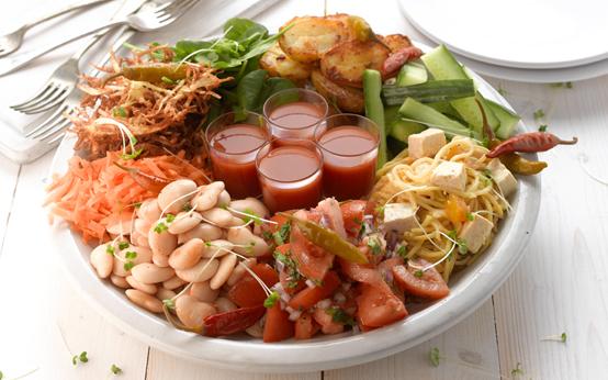 Vegetarian platter recipe goodtoknow for Stage cuisine vegan