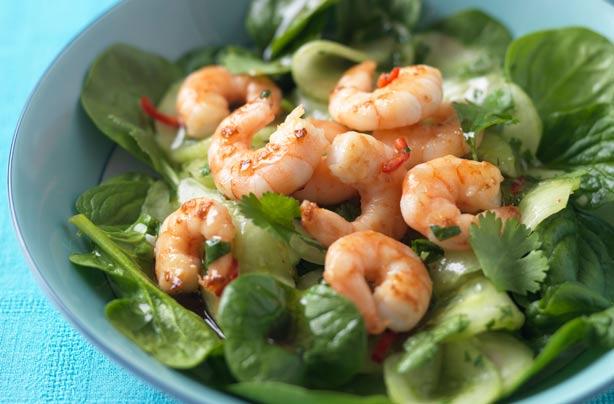Prawn Salad With Pickled Cucumber | British Recipes | GoodtoKnow