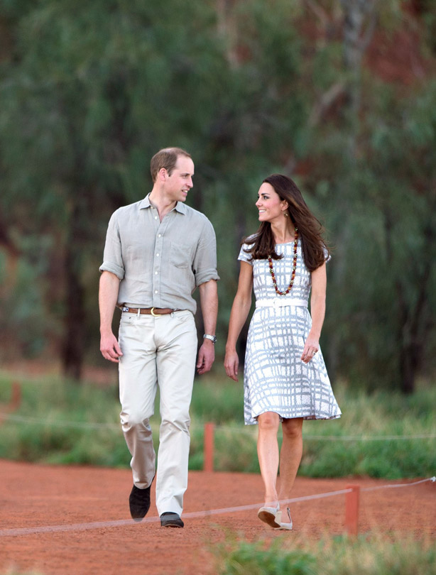 Prince William and Kate Middleton visiting Ayers Rock