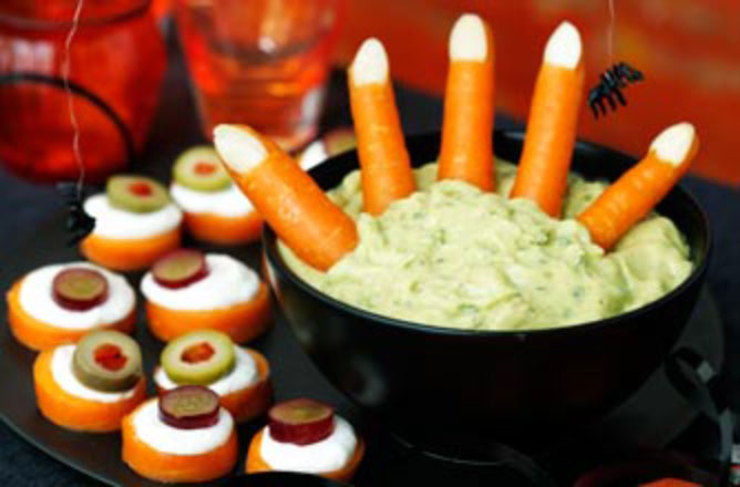 Why not try these chunky 'Frankenstein fingers' for a frightening Halloween feast