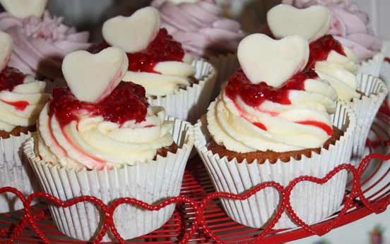Kerrys Raspberry And White Chocolate Cupcakes