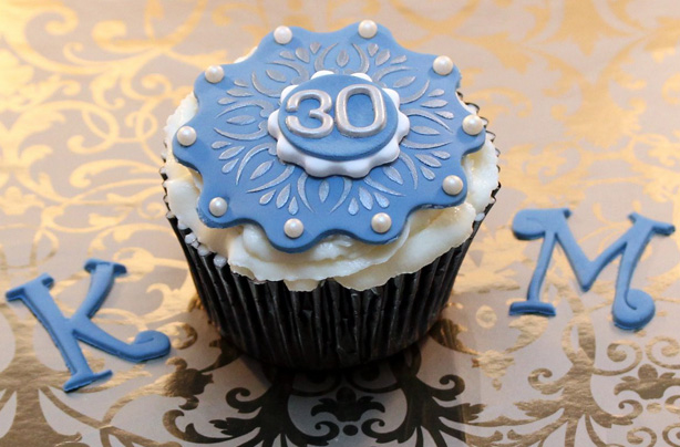 Admirable 30Th Birthday Cupcakes Recipes Goodtoknow Funny Birthday Cards Online Overcheapnameinfo