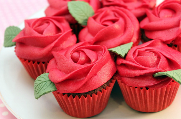 Red Rose Cupcakes Recipe