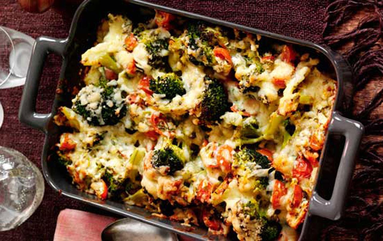 Slimming Worlds Cheesy Broccoli Bake