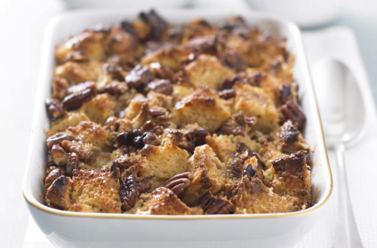 This pecan bread and butter pudding from Hairy Bikers' is scrumptious