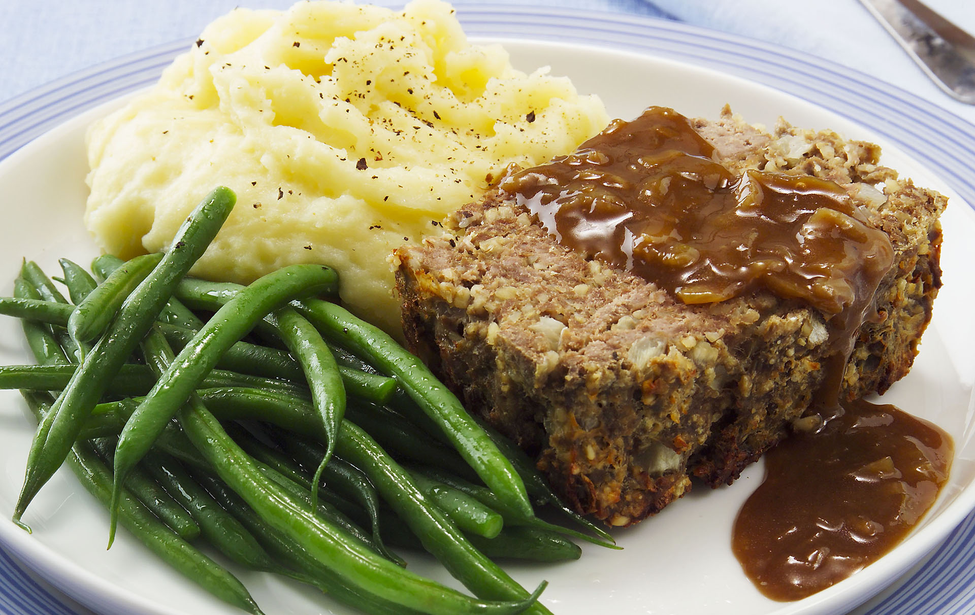Tremendous Hairy Bikers Meatloaf Recipe With Gravy Dinner Recipes Goodtoknow Personalised Birthday Cards Cominlily Jamesorg