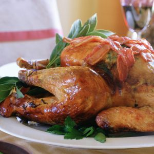This roast turkey with chestnut stuffing really is a must for every Thanksgiving dinner table