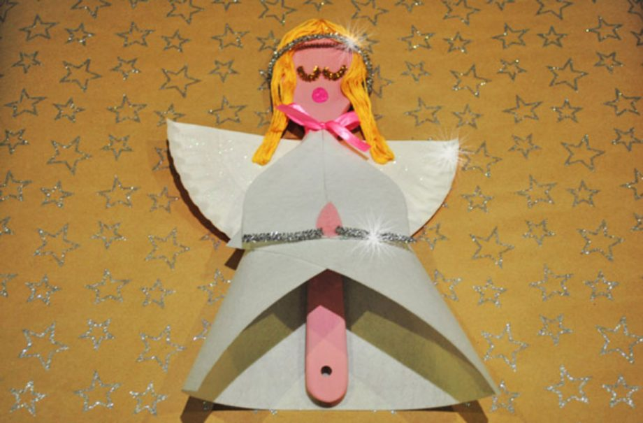 Angel Christmas Craft How To Make A Wooden Spoon Angel