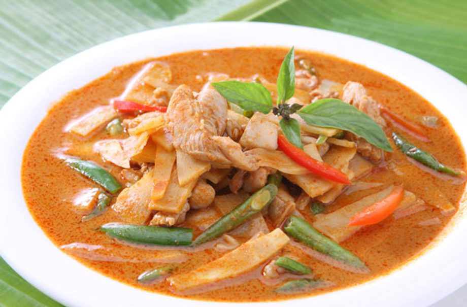 Red Thai Chicken Bean And Bamboo Curry