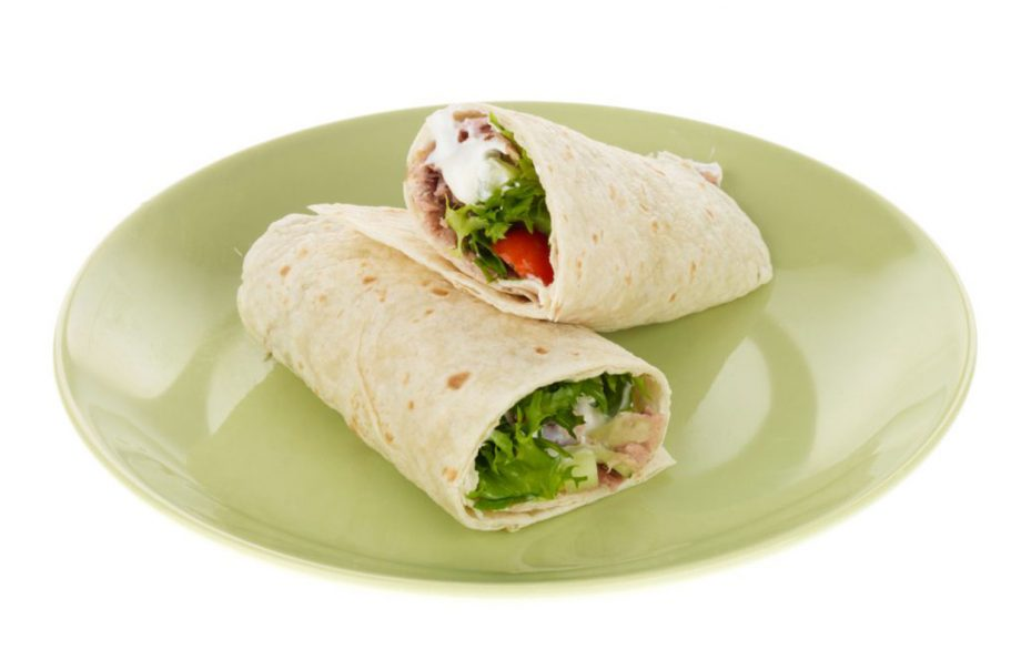 Tuna And Lemon Mayonnaise Wraps