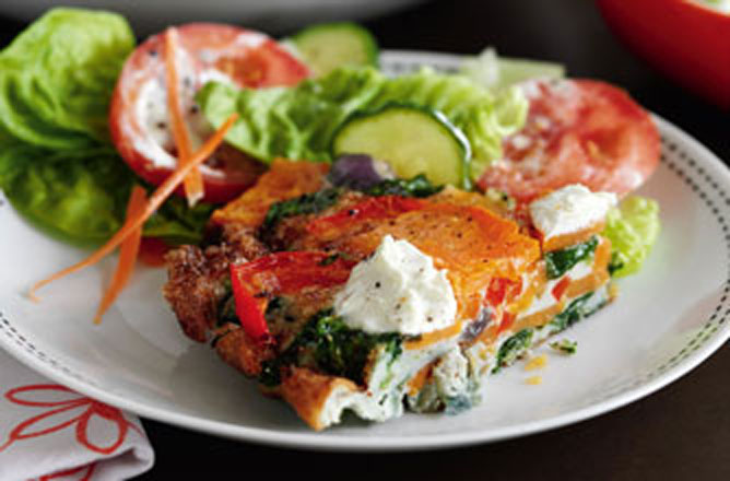 Slimming Worlds Red Pepper Spinach And Sweet Potato Tortilla