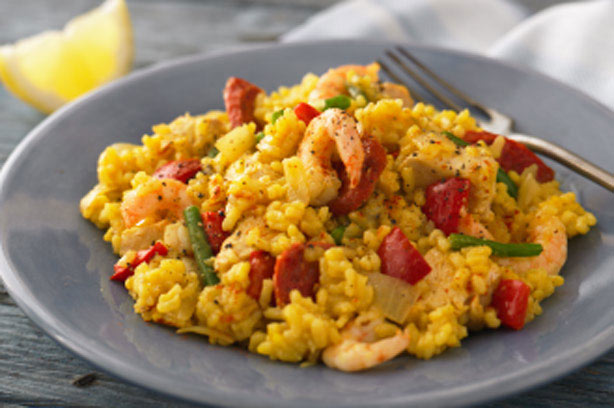 Chicken And Prawn Paella Recipe Goodtoknow