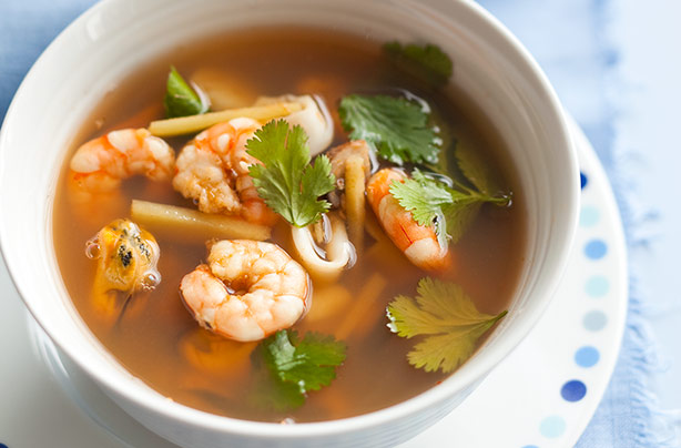 Tom Yum Seafood Soup Lunch Recipes Goodtoknow