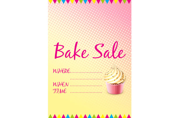free bake sale signs and labels