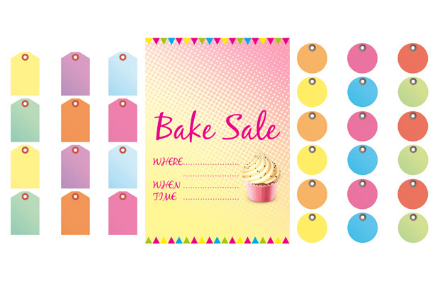 photo relating to Printable Sale Tags called Totally free bake sale indications and labels