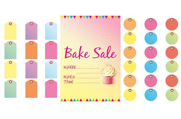 Bake Sale Cake Labels
