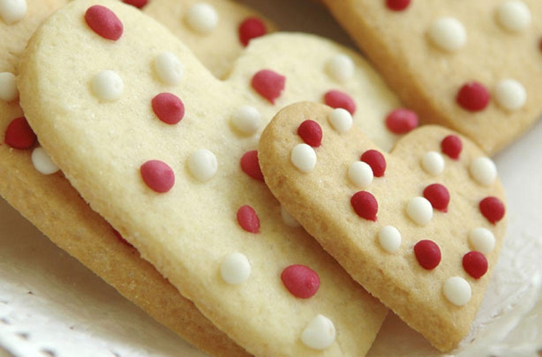 Dotty shortbread hearts