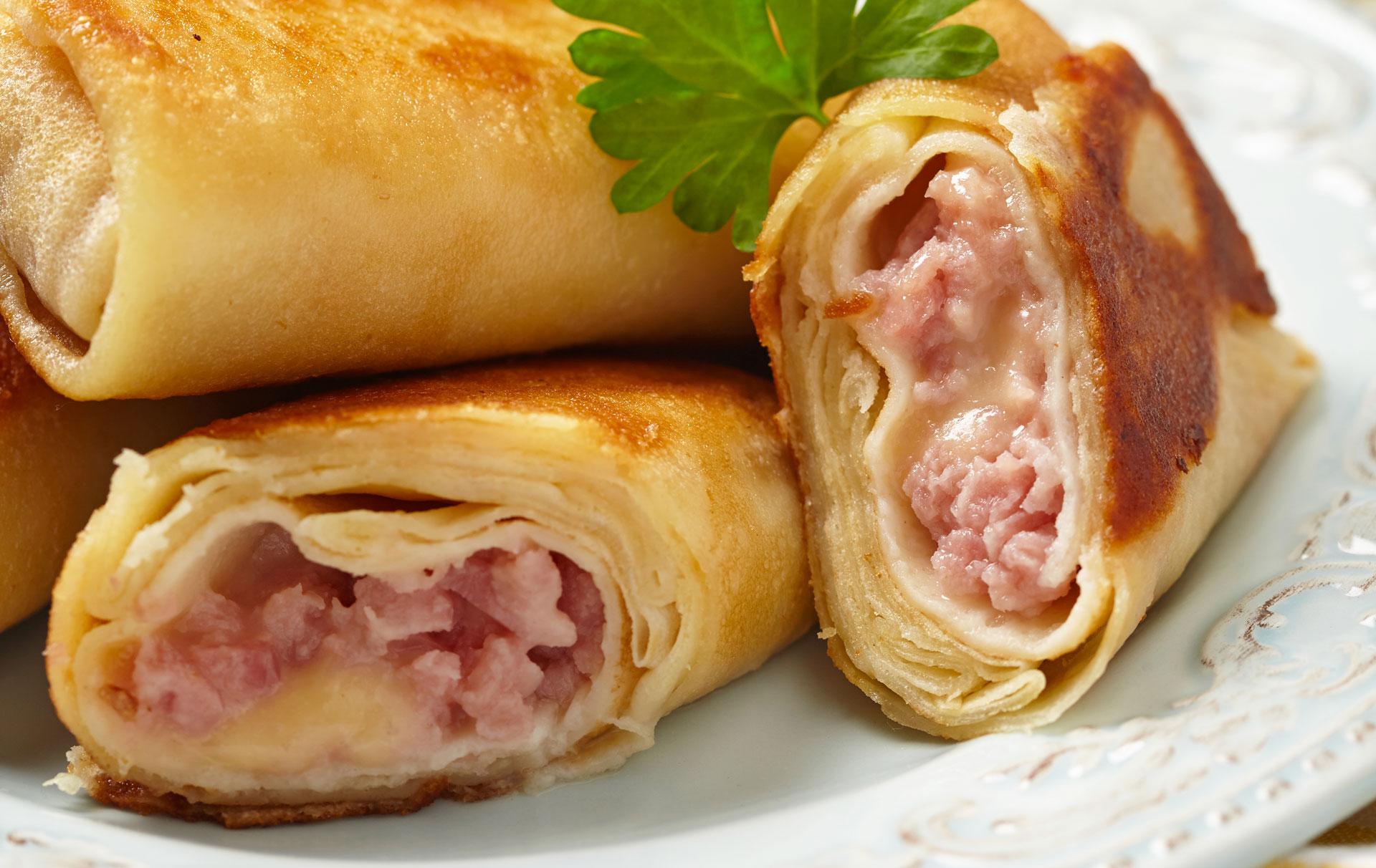 Ham And Cheese Pancake Rolls Breakfast Recipes Goodtoknow