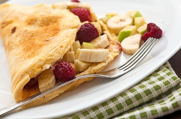 sweet fruit omelette recipe goodtoknow