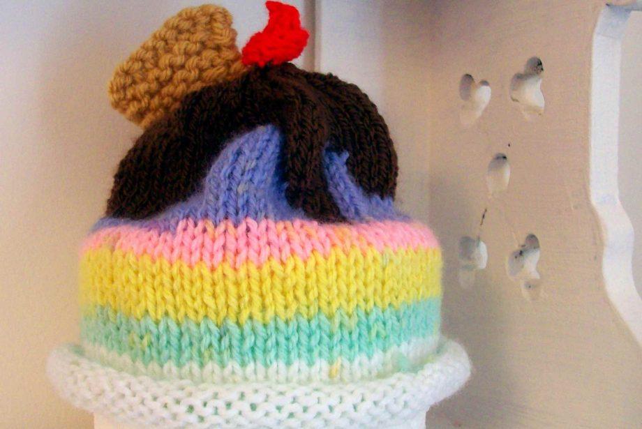 Ice Cream Baby Hat Knitting Pattern