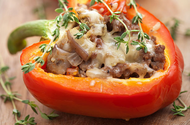 Minced Beef Stuffed Peppers Recipe Goodtoknow