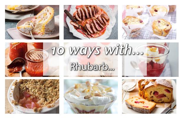 10 ways with rhubarb