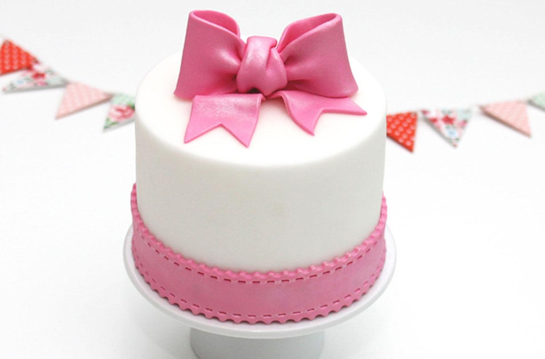 Astounding Bow Cake Decoration Personalised Birthday Cards Epsylily Jamesorg