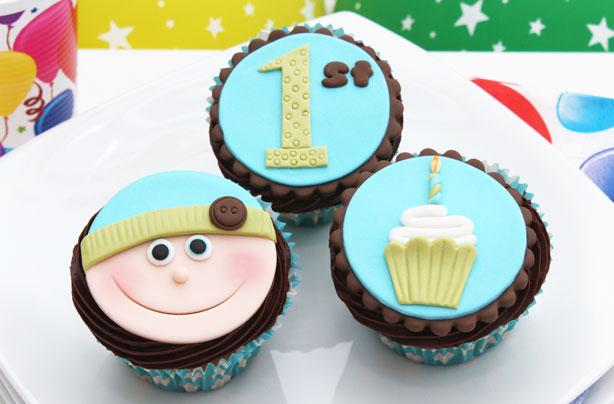 Babys 1st Birthday Cupcakes