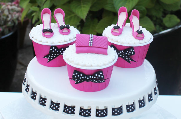 Shoes And Handbag Cake Decorations