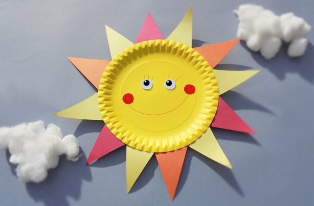 Paper Plate Crafts How To Make A Sun
