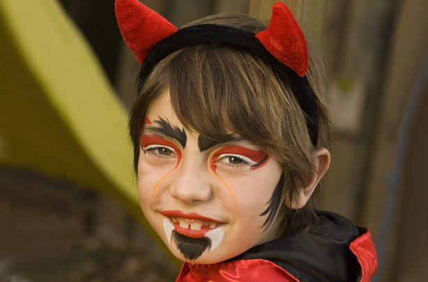 Halloween Devil Face Paint Tutorial