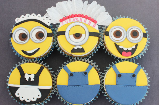 Despicable Me Inspired Minion Cupcakes