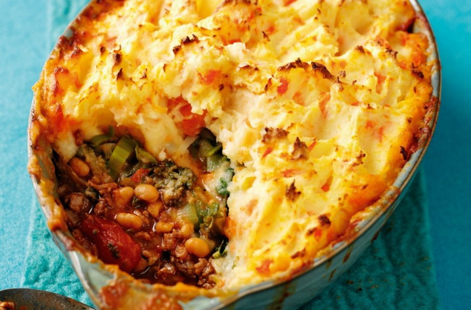 Mince Bean And Mash Pie