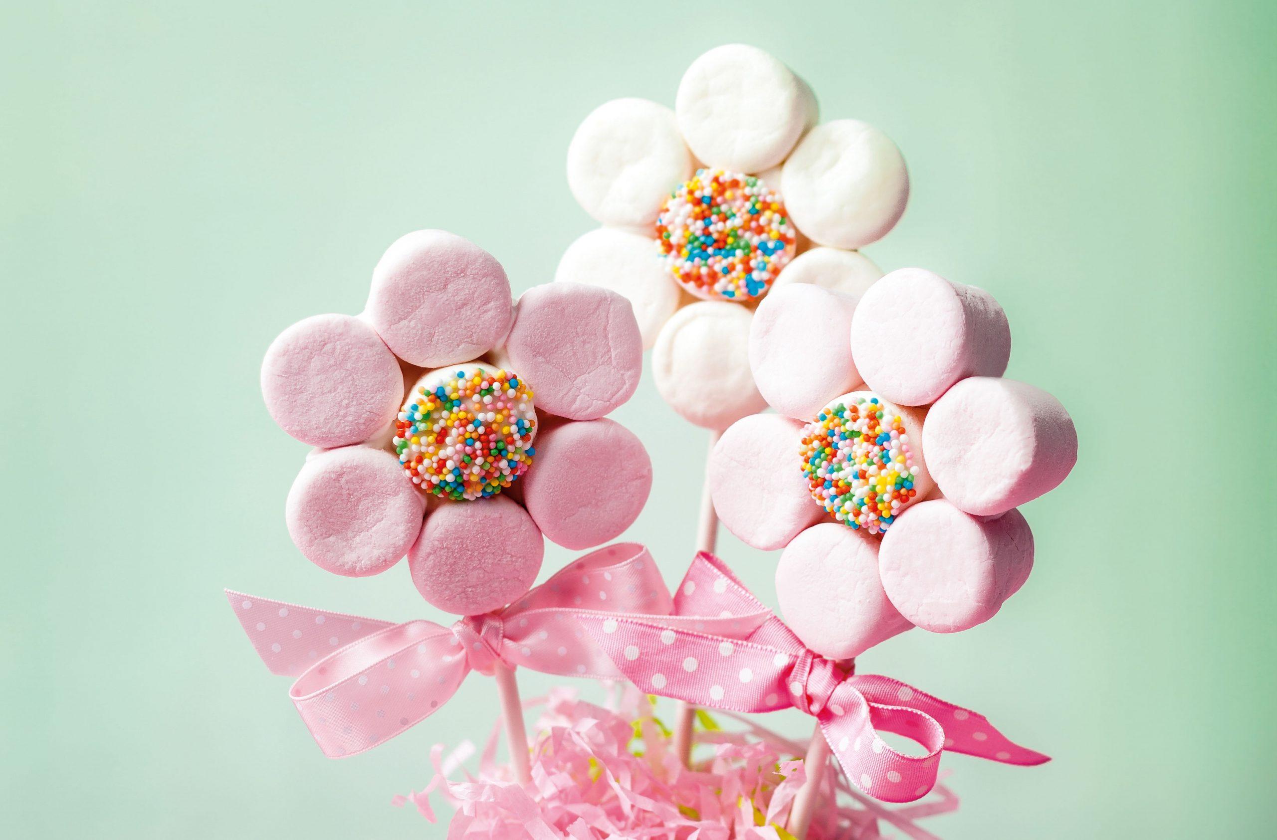 Marshmallow flowers