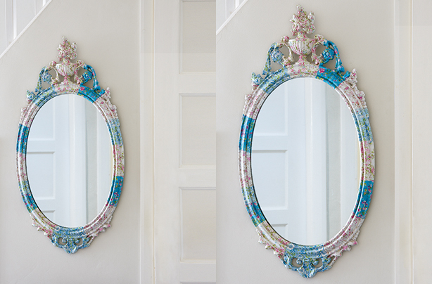 How to make a decoupage mirror
